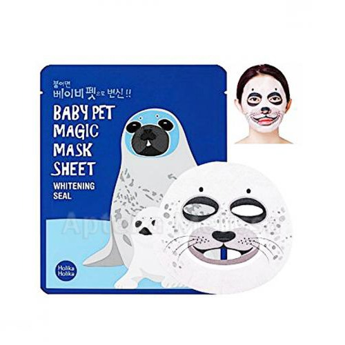 Holika Holika Baby Pet Magic Mask Sheet Whitening Seal Miss Eco sk