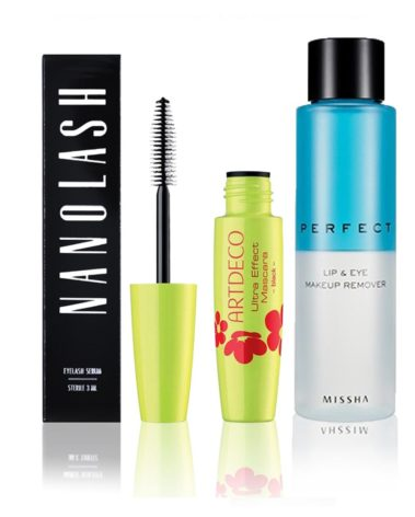 Nanolash-3-ml-+-ArtDeco-Ultra-Effect-Mascara-Black-8-ml-+-MISSHA-Perfect-Lip-&-Eye-Make-Up-Remover-155-ml-Miss-Eco